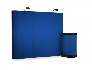 3x3 Pop Up Fabric Display Stand Loop Nylon Velcro Friendly